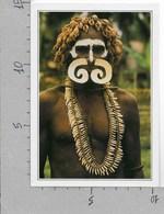 CARTOLINA NV DE AGOSTINI - PAPUA NUOVA GUINEA - Guerriero Asmat - Vedute Dal Mondo - 10 X 15 - Papua Nuova Guinea