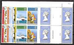 1977 Guernsey  100° ORDINE OSPEDALI  8 Serie MNH** (148/51+158) In 2 Coppie Con Interspazio - Guernesey