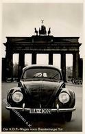 VW - IAA BERLIN 1939 - Der KDF-Wagen Vorm Brandenburger Tor Mit S-o I - Ansichtskarten