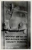 """VW - So-Karte -100000 KDF-WAGEN Sind Ibn Einem Monat Gekauft Worden - Berlin 1938-oben Beschnitten!!!, III, S-o"""" - Ansichtskarten"""