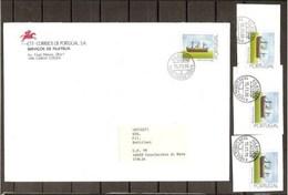 1993 Portogallo Portugal STORIA POSTALE 130c (1966A) X4: 1 Su Busta Viagg. Lisbona Casalecchio + 3 Su Frammento - Storia Postale