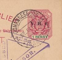Zuid Afrik Republiek Johannesburg 1901 Censure Censor Seconde Guerre Des Boers Second Boer War Durban Natal - Zuid-Afrika (...-1961)