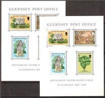 1975 Guernsey  VICTOR HUGO EXILE10 Foglietti (BF. 1) MNH** 10 Souv. Sheets - Scrittori
