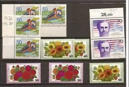 1976 Germania RFT - Deutschland  6 Serie (730x4+744x2)+ 5 Valori (754x2+755x3) MNH** - [7] Federal Republic