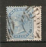 MAURITIUS1880 8c SG 94 WATERMARK CROWN CC FINE USED - Mauritius (...-1967)