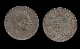 PIERRE I . 2 DINARA  1915 . - Serbie