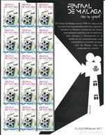 ESPAGNE SPANIEN SPAIN ESPAÑA 2017 CINEMA  FESTIVAL DE MALAGA PREMIUN PANE Nº44) ED 5130 MI 5142 YT 4847 - 2011-... Unused Stamps