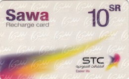 SAUDI ARABIA - Sawa GSM Recharge, 10 Riyals, Used - Saudi Arabia
