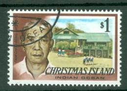 Christmas Is: 1977/78   Famous Visitors   SG81   $1   Used - Christmas Island
