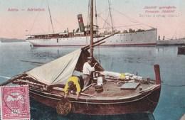 Postcard : Adria  (Italie Hongrie) Adriatico Piroscafo Gödöllö Bateau Barque De Pêche Rare - Italy