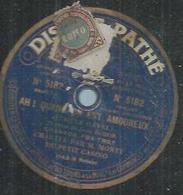 """78 Tours - M. MONTY  - PATHE 5182  """" AH ! QUAND ON EST AMOUREUX """" + """" SUR L'AIR D'UNE JAVA  """" - 78 Rpm - Gramophone Records"""