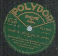 """78 Tours - MUSIQUE DES GARDIENS DE LA PAIX - POLYDOR 521983 """" HYMNE DE L'INFANTERIE DE MARINE """" + """" AUPRE DE MA BLONDE """" - 78 Rpm - Gramophone Records"""
