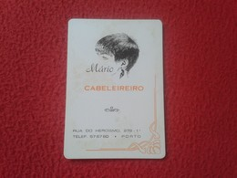 ANTIGUO CALENDARIO DE BOLSILLO DE MANO PORTUGAL PORTUGUESE CALENDAR 1986 MÁRIO CABELEREIRO PORTO OPORTO  PELUQUERO VER F - Calendarios