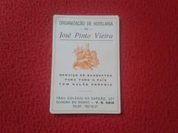 ANTIGUO CALENDARIO DE BOLSILLO DE MANO PORTUGAL PORTUGUESE CALENDAR 1986 ORGANIÇAO DE HOTELARIA OLIVEIRA DO DOURO VER - Calendarios