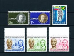 Jamaica  Nº Yvert  251/3-259/60-265  En Nuevo - Jamaica (1962-...)