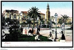 NAPOLI - VILLA DEL POPOLO E CAMPANILE DEL CARMINE - Ed. E. Ragozino - Animata - Napoli (Naples)