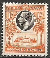 Gold Coast - 1928 Christianborg Castle 1s MLH *    Sc105  SG 110 - Gold Coast (...-1957)