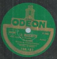 "78 Tours - M. ROQUE - ODEON 166187  "" LA MASCOTTE "" + "" LES CLOCHES DE CORNEVILLE "" - 78 Rpm - Gramophone Records"