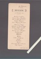 Menu - Du 22 Février 1900 - Chateau De La Bretesche, Missillac 44 - Traiteur Albert Nantes - - Menus