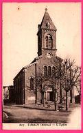 Tassin La Lune - L'Eglise - Banc - Horloge - France