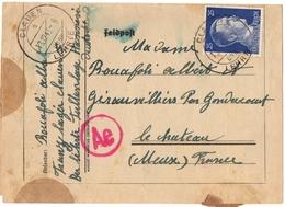 ALLEMAGNE.IIIème REICH. CLAUEN . LEHRTE. HANNOVER. CAMP.1943. POUR GERAUVILLIERS (55) - Storia Postale