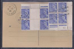 Carte Locale Journee Du Timbre 1944 La Rochelle Griffe Cachet Special Non Parvenu Mercure Coin Daté - France