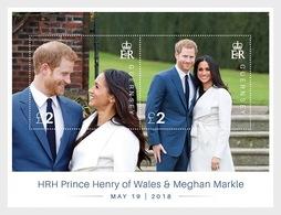 Guernsey - Postfris / MNH - Sheet Huwelijk Prins Henry En Megan 2018 - Guernsey