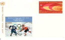 UNITED STATES -  SARAJEVO WINTER OLYMPIC GAMES HOCKEY  CACHET  FDC4915 - Winter 1984: Sarajevo