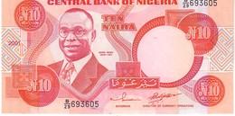 Nigeria P.25 10 Nairia 2001  Unc - Nigeria