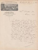 Toulouse - J Deltil - Fabrique De Ciels Ouverts & Rideaux De Cheminee 1883 - 1800 – 1899