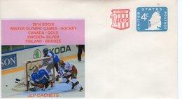UNITED STATES -  SOCHI WINTER OLYMPIC GAMES HOCKEY  CACHET  FDC4942 - Inverno 2014: Sotchi