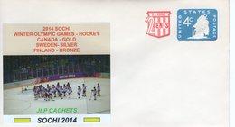 UNITED STATES -  SOCHI WINTER OLYMPIC GAMES HOCKEY  CACHET  FDC4943 - Inverno 2014: Sotchi