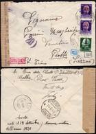 Italy - Repubblica Sociale Italiana, Censored Cover (Mi. 642, 644) BREBBIA 10.6.1944 - Piotta, Suisse. - 4. 1944-45 Repubblica Sociale