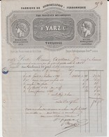 Toulouse - Fs Yarz & Cie - Fabrique De Quincaillerie Et Ferronnerie - 1800 – 1899