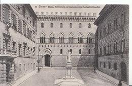Italy Postcard - Siena - Piazza Salimbeni Col Monumento A Sallustio Bandini - ND1308 - Siena