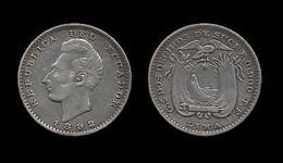 EQUATEUR . 2 DECIMO DE SUCRE . 1892 LIMA . - Ecuador