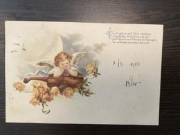 AK  ANGEL  ENGEL  LITHO  1900. - Anges