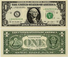 U.S.A.       1 Dollar       P-537       2013       UNC  [letter L: San Francisco] - Bilglietti Della Riserva Federale (1928-...)