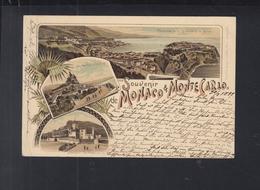 Carte Postale Souvenir Monaco & Monte Carlo 1897 - Monte-Carlo