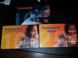 3 X  Transworld - Satellite 10, 10, 25 Units -  Fine Used Condition - [2] Prepaid