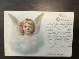 AK  ANGEL  ENGEL  LITHO  1900 - Anges