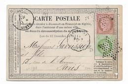 ENTIER POSTAL Carte Précurseur N° 5 Privée Ets BLATRIX + Convoyeur Station BEAUMONT Ligne CREIL à PARIS Retour  Et ....G - Ganzsachen
