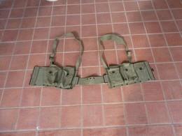 BELGIAN ARMY B.A.R. RIFLE COMBAT MAG POUCH & BELT SET A&L1964 - Equipaggiamento