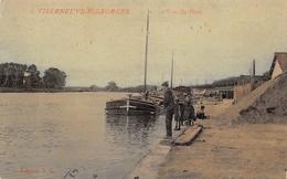 ¤¤   -   VILLENEUVE-SAINT-GEORGES   -  Vue Du Port  -  Pêcheur , Péniche  -   ¤¤ - Villeneuve Saint Georges