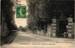 FRANCONVILLE (95) La Rue De Paris - Entrée De Saint Marc - Très Très Rare - Animée - Carte Postée - Franconville