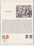 1ER JOUR FEUILLET DOCUMENT PHILATELIQUE 46/1977 SABINE - Documenti Della Posta