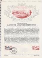 1ER JOUR FEUILLET DOCUMENT PHILATELIQUE 37/1977 PONT A MOUSSON - Documents De La Poste
