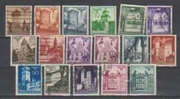 Allemagne ~ Pologne Gouvernement General  1940  N° 56 / 67A   Oblitéré 17 Valeurs Série Compléte - 1939-44: 2. WK
