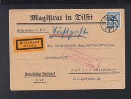 Dt. Reich Luftpost 1927 Tilsit Nach Berlin - Storia Postale