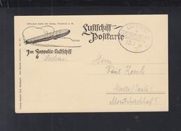 Dt. Reich Luftpost Zeppelin Sachsen 1914 - Luftpost